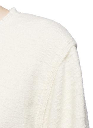 Detail View - Click To Enlarge - Isabel Marant - Oversize alpaca frayed sweatshirt
