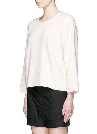 Front View - Click To Enlarge - Isabel Marant - Oversize alpaca frayed sweatshirt