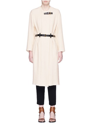 Main View - Click To Enlarge - ISABEL MARANT - Quilted buckled long coat