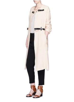 Figure View - Click To Enlarge - ISABEL MARANT - Quilted buckled long coat
