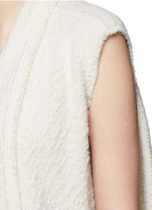 Detail View - Click To Enlarge - Isabel Marant - 'Felicia' alpaca drape long vest