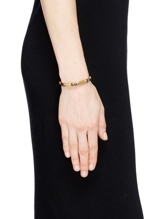 Figure View - Click To Enlarge - Ela Stone - 'Ana' hematite stone cuff