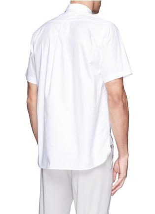 Back View - Click To Enlarge - Sacai - Zip placket cotton poplin shirt