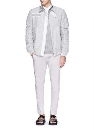 Figure View - Click To Enlarge - Sacai - Zip placket cotton poplin shirt