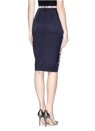 Back View - Click To Enlarge - Peter Pilotto - 'Vector' floral appliqué silk pencil skirt