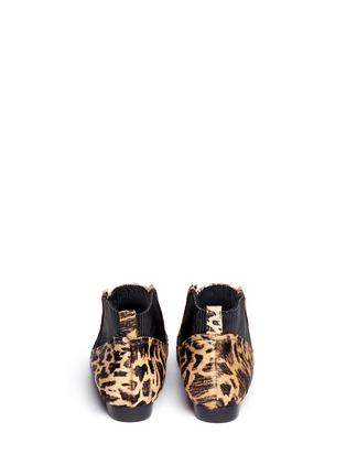 Back View - Click To Enlarge - 10 CROSBY DEREK LAM - 'Alegra Too' Ikat leopard print calf hair booties