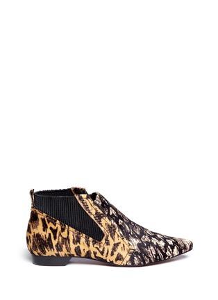 Main View - Click To Enlarge - 10 CROSBY DEREK LAM - 'Alegra Too' Ikat leopard print calf hair booties