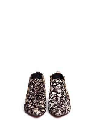 Figure View - Click To Enlarge - 10 CROSBY DEREK LAM - 'Alegra Too' Ikat leopard print calf hair booties