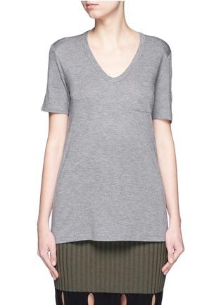 Main View - Click To Enlarge - T By Alexander Wang - Rayon jersey T-shirt