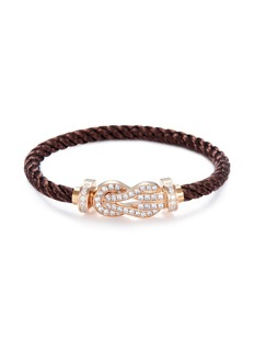 Fred 'Force 10' diamond 18k rose gold large buckle