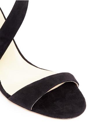 Detail View - Click To Enlarge - ALEXANDER WHITE - 'Demi' asymmetric strap suede sandals