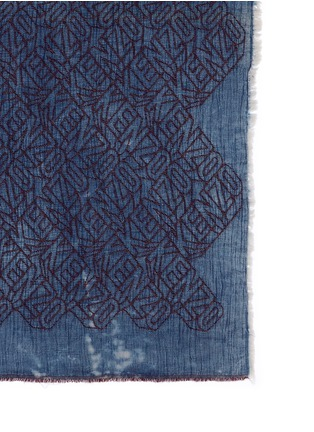 Detail View - Click To Enlarge - KENZO - 'Flying Kenzo' logo denim effect scarf