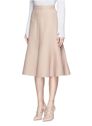 Front View - Click To Enlarge - Valentino - Wool-silk Crepe Couture skirt