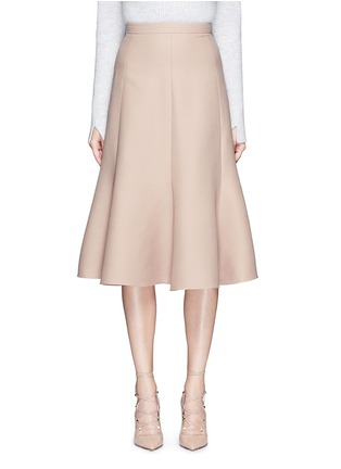 Main View - Click To Enlarge - Valentino - Wool-silk Crepe Couture skirt