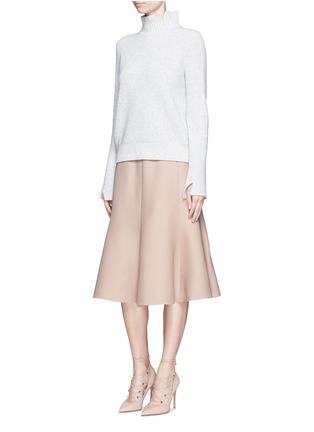 Figure View - Click To Enlarge - Valentino - Wool-silk Crepe Couture skirt