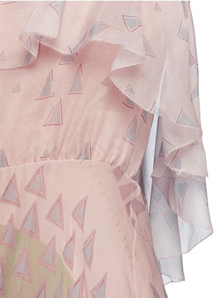 Detail View - Click To Enlarge - Valentino - Geometric tribal print silk chiffon dress