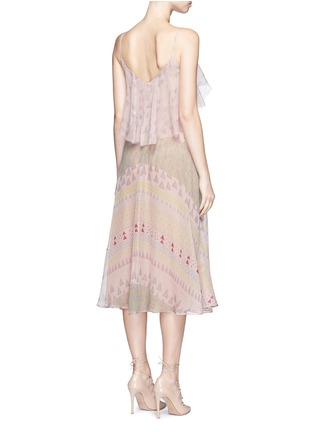 Back View - Click To Enlarge - Valentino - Geometric tribal print silk chiffon dress