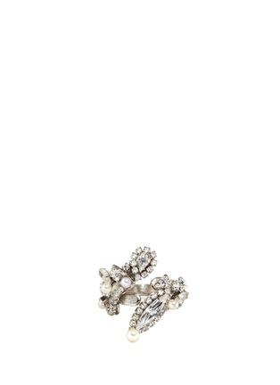 Main View - Click To Enlarge - ERICKSON BEAMON - 'Limelight' Swarovski crystal pavé glass pearl ring