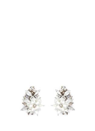 Main View - Click To Enlarge - Erickson Beamon - 'Winter Wonderland' Swarovski crystal floral cluster earrings