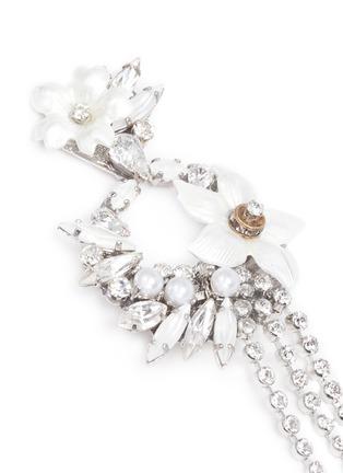 Detail View - Click To Enlarge - Erickson Beamon - 'Winter Wonderland' fringed floral hoop Swarovski crystal earrings
