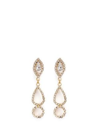 Main View - Click To Enlarge - Erickson Beamon - 'Princess' Swarovski crystal geometric cutout drop earrings