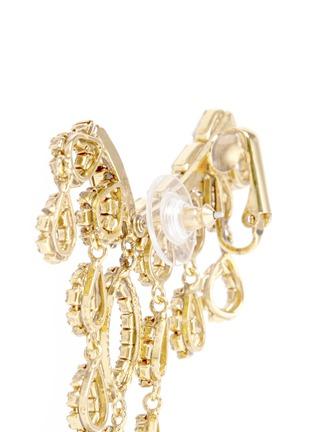 Detail View - Click To Enlarge - Erickson Beamon - 'Princess' Swarovski crystal asymmetric climber and stud earrings
