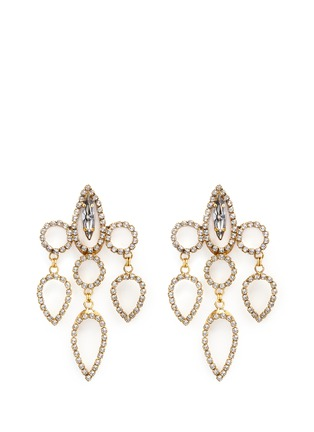 Main View - Click To Enlarge - Erickson Beamon - 'Princess' Swarovski crystal chandelier drop earrings