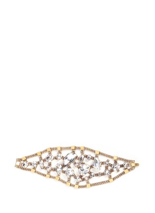 Main View - Click To Enlarge - Erickson Beamon - 'River Song' Swarovski crystal brass statement bracelet