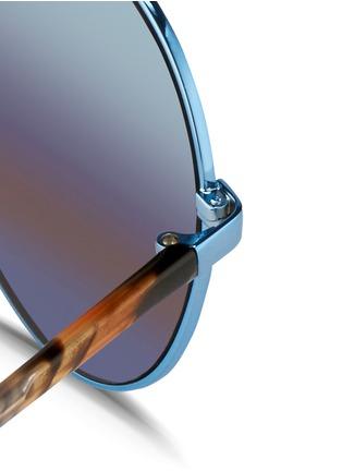 Detail View - Click To Enlarge - Matthew Williamson - Tortoiseshell acetate temple aviator mirror sunglasses