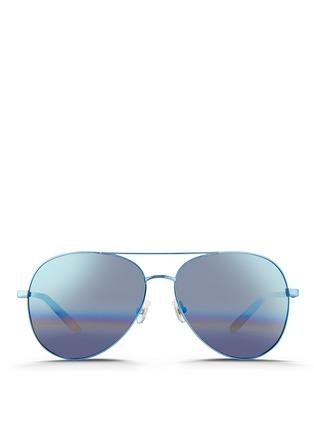 Main View - Click To Enlarge - Matthew Williamson - Tortoiseshell acetate temple aviator mirror sunglasses
