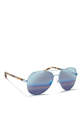Figure View - Click To Enlarge - Matthew Williamson - Tortoiseshell acetate temple aviator mirror sunglasses
