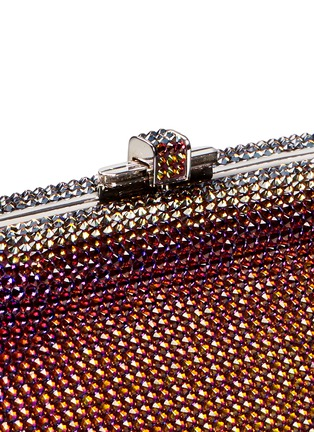 Detail View - Click To Enlarge - Judith Leiber - 'Slide Lock' crystal pavé minaudière
