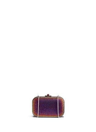 Back View - Click To Enlarge - Judith Leiber - 'Slide Lock' crystal pavé minaudière