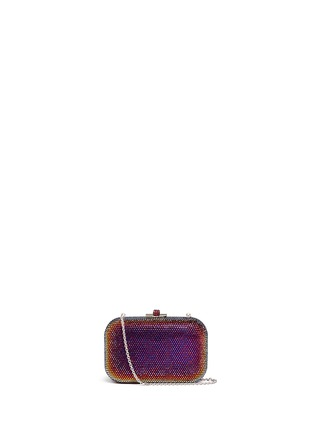 Main View - Click To Enlarge - Judith Leiber - 'Slide Lock' crystal pavé minaudière