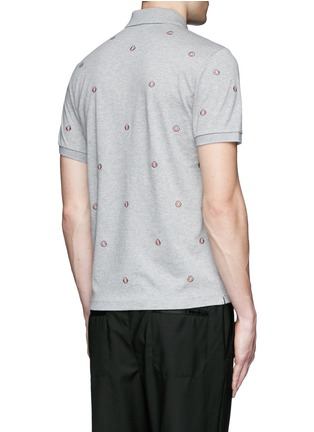 Back View - Click To Enlarge - Moncler - Logo embroidery polo shirt