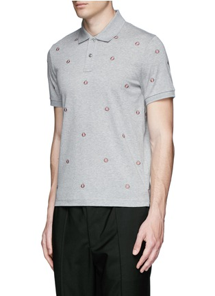 Front View - Click To Enlarge - Moncler - Logo embroidery polo shirt
