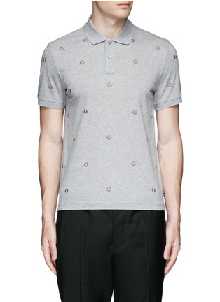 Main View - Click To Enlarge - Moncler - Logo embroidery polo shirt