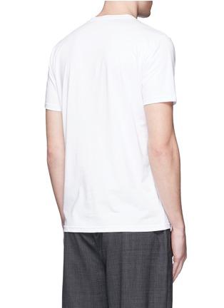 Back View - Click To Enlarge - Moncler - Pixel logo print cotton T-shirt