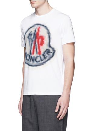 Front View - Click To Enlarge - Moncler - Pixel logo print cotton T-shirt