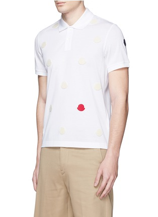 Front View - Click To Enlarge - Moncler - Empty logo patch polo shirt