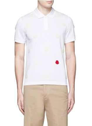 Main View - Click To Enlarge - Moncler - Empty logo patch polo shirt