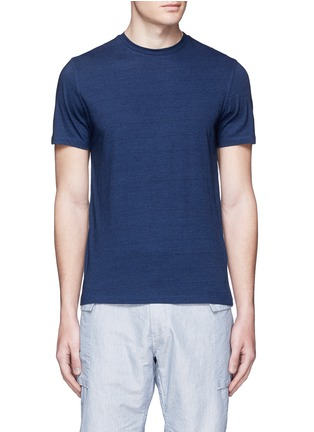 Main View - Click To Enlarge - MONCLER - Slub jersey T-shirt
