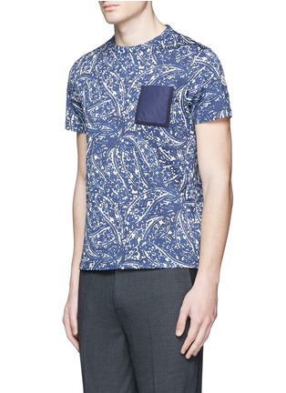 Front View - Click To Enlarge - MONCLER - Bandana print cotton T-shirt
