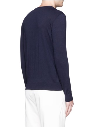Back View - Click To Enlarge - Moncler - Gallic bird cotton-cashmere sweater