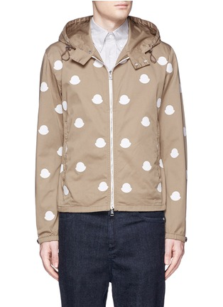 Main View - Click To Enlarge - Moncler - 'Jehan' empty logo patch hood jacket