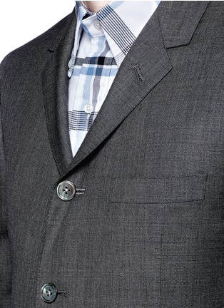 Detail View - Click To Enlarge - Thom Browne - Wool step twill suit