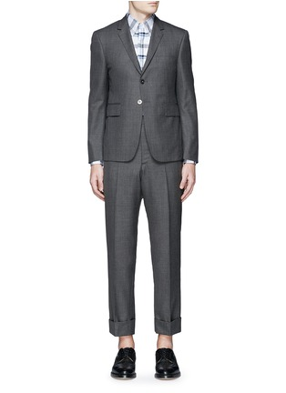 Main View - Click To Enlarge - Thom Browne - Wool step twill suit