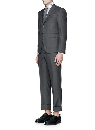 Figure View - Click To Enlarge - Thom Browne - Wool step twill suit