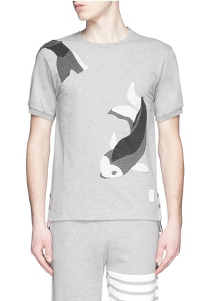 Main View - Click To Enlarge - Thom Browne - Fish patchwork jersey T-shirt