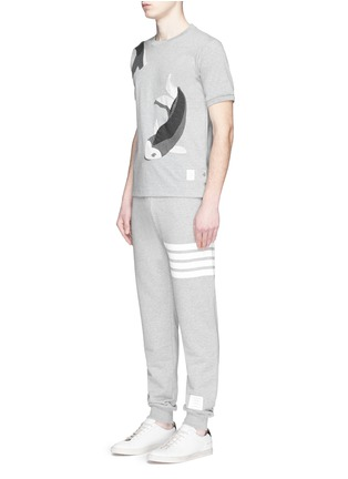 Figure View - Click To Enlarge - Thom Browne - Fish patchwork jersey T-shirt